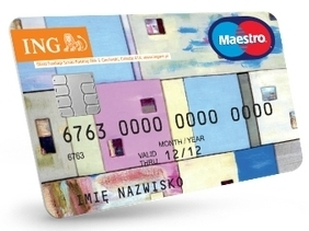 Konto walutowe ING Bank Śląski - karta Maestro EUR