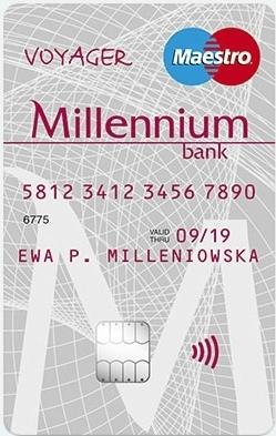 Konto walutowe Millennium Bank - karta Maestro Voyager