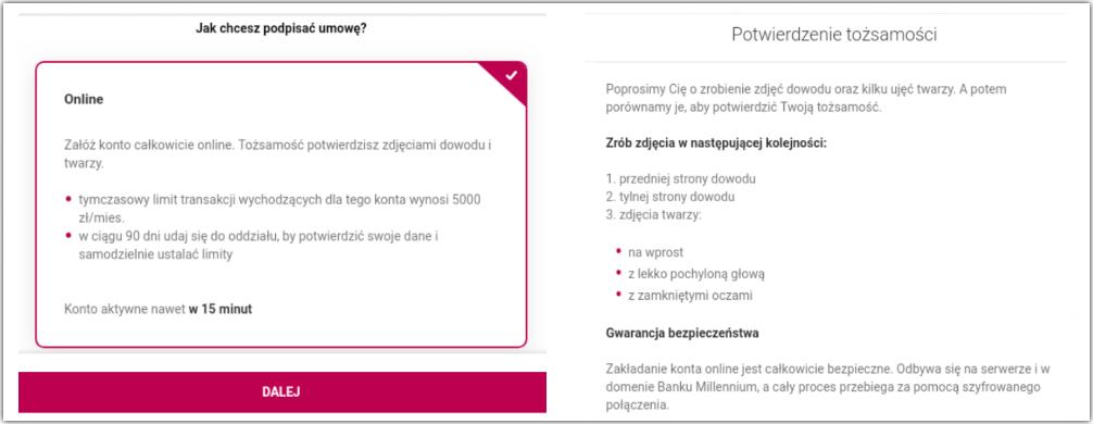 Konto bez kuriera w Millennium Banku