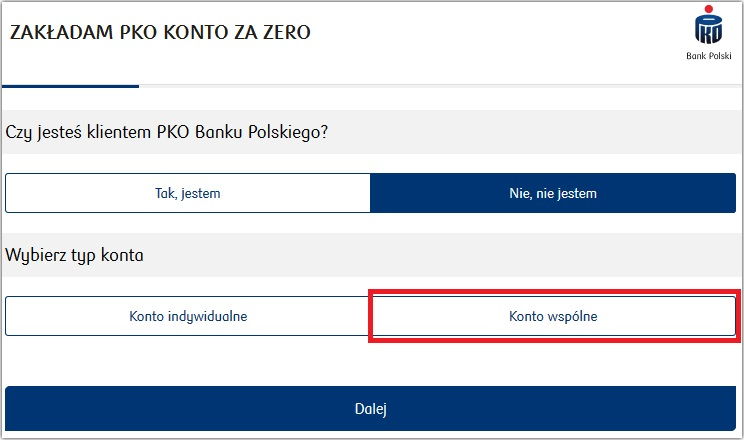 Wspólne konto bankowe w PKO BP