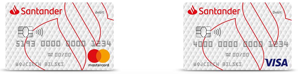Santander Bank - wielowalutowa Karta Dopasowana MasterCard i Visa